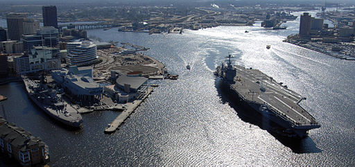 The harbor at Norfolk Virginia