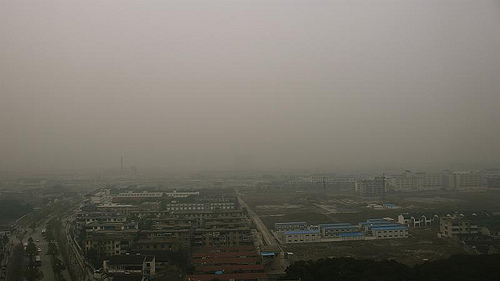 air pollution over Suzhou, China