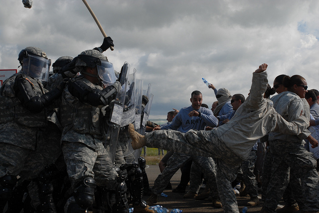 National Guard riot training