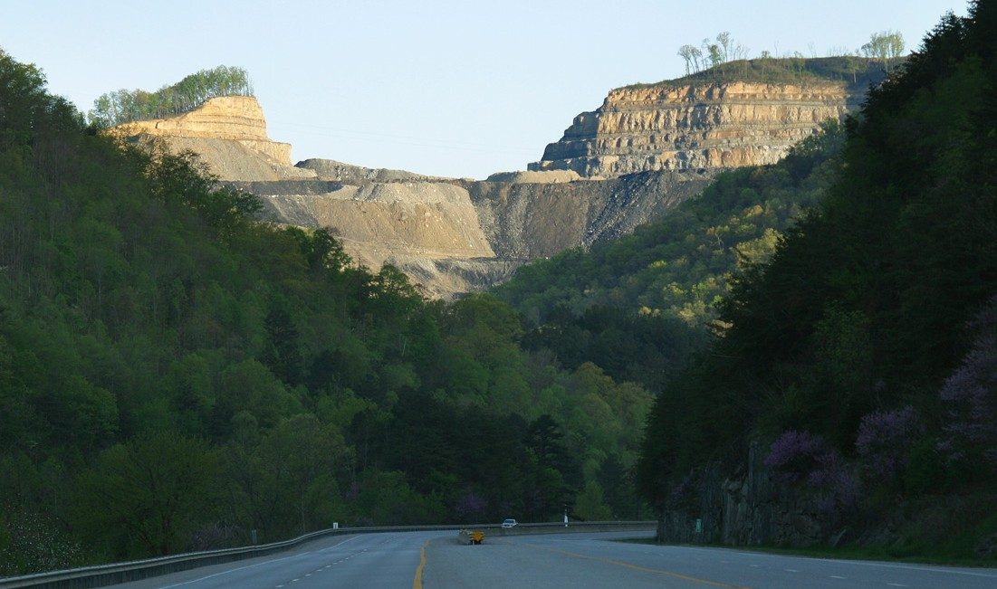This view of a former mountaintop in Pike County, Kentucky, which is now lying in nearby valleys, shows what's left when the coal is gone. (Photo by iLoveMountains.org/Flickr)