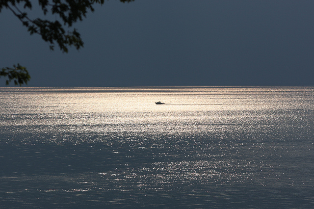 Beautiful, tranquil and nearly dead: Lake Michigan in the moonlight. (Photo by Kevin Dooley/Flickr)