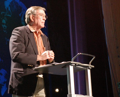 Ray Anderson addresses the TED conference in 2009. Unlike most, for 25 tears he actually walked the walk of sustainability in industry. (Photo by whiteafrican/Flickr)