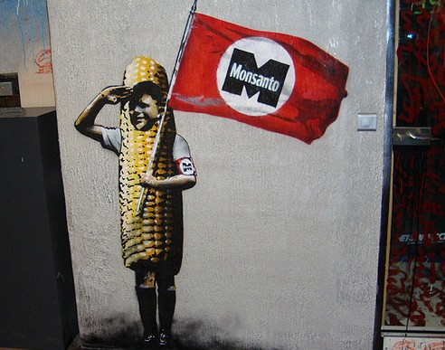 "Monsanto's declining reputation worldwide is reflected in this French street art of an imagined member of ""Monsanto Youth."" (Photo by Thierry Erhmann/Flickr)"