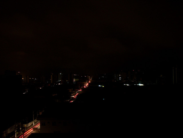 It's not easy to get a picture of a blackout. This one is from Brazil. (Photo by Alexandre Brevegliere/Flickr)