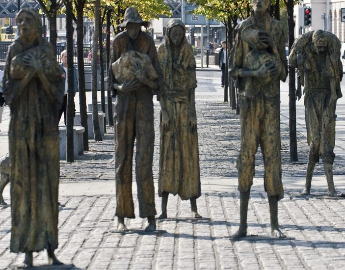 Famine, as visualized by sculptor Rowan Gillespie on Custom House Quay in Dublin, Ireland. Famine is what hedge fund manager Jeremy Grantham is really talking about in his latest investor letter. (Photo by William Murphy/Flickr)