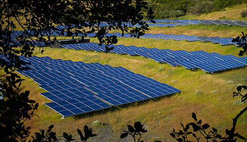 Solar farms like this one metastasized across Spain for ten years, proving yet again that is it's industrial (and heavily subsidized), it's not sustainable. (Photo by Michael Mees --  mcmees24/flickr)