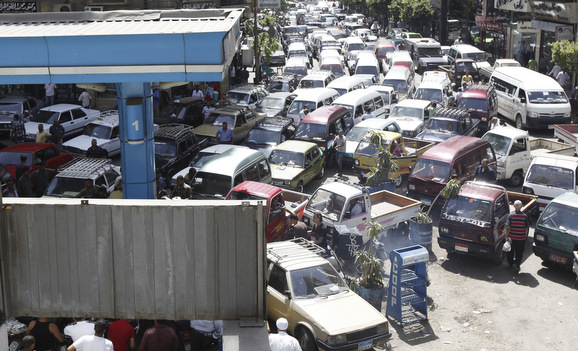 A fuel shortage in June clogs the streets of Cairo with gas lines. Egypt's oil production has peaked, and now so has the patience of its people.