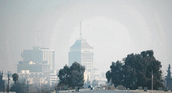 No,it's not Beijing, but downtown Fresno on Friday, January 17, 2014. (Photo by Craig Kohlruss/The Fresno Bee)