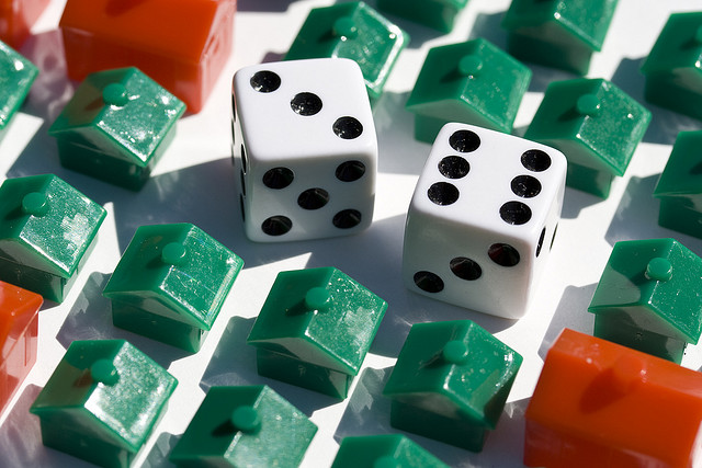 God may not play dice with the universe, but the Masters of the Universe shoot craps with everything. (Photo by WoodleyWonderWorks/Flickr)