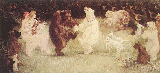 The Glad News Bears are cute and entertaining, but should not be mistaken for financial advisers or life coaches. (Painting by Frederick Stuart Church [Public domain], via Wikimedia Commons)