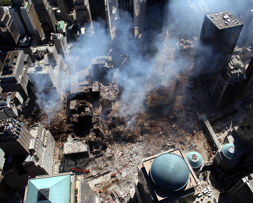 """Say """"terrorist attack"""" to us and, like Rudy Giuliani asked how he's feeling, we immediately respond """"Nine-eleven!"""" But in the 14 years since 9-11, it's not Al Qaeda operative who have been killing us. We have met the enemy, as Al Capp told us so long ago, and he is us. (US Navy/Wikipedia photo.)"""