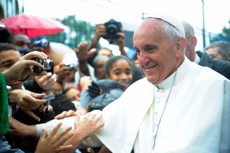 Pope Francis is touching millions -- by being nice. Who knew that would work? (Wikipedia Photo)