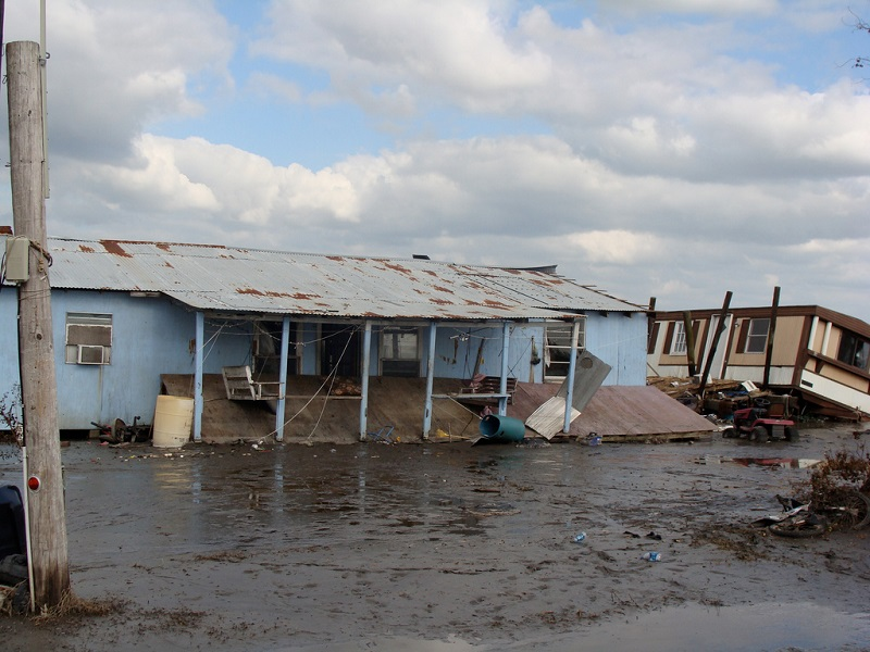 Too close for comfort: rising waters of the Gulf of Mexico are turning the residents of Isle de Jean Charles, LA, into the first U.S. climate refugees. (Photo by Karen Apricot/Flickr)